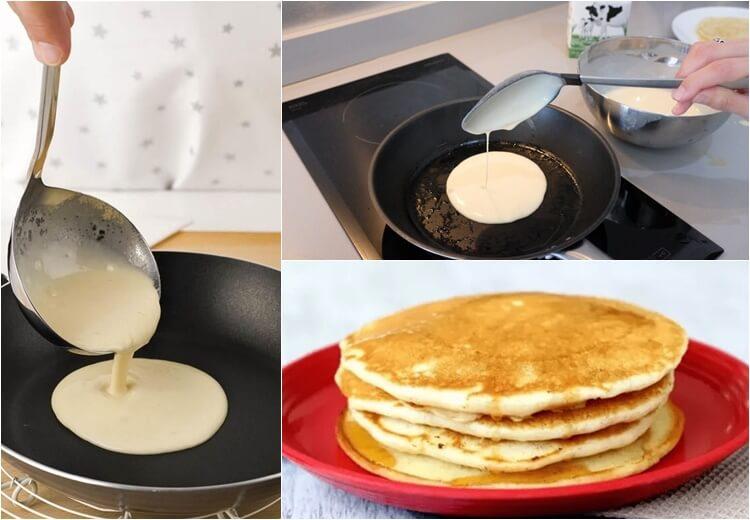 como hacer panqueques sin huevo