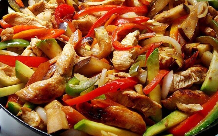 receta del salteado de pollo